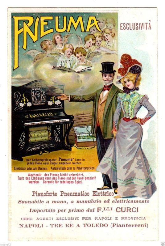 Pianos Pneuma. Italia, 1900.