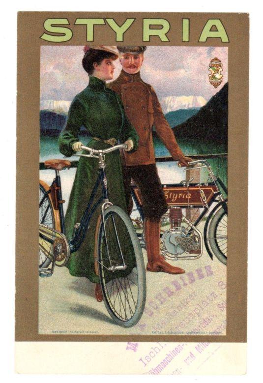 Bicicletas Styria. Estados Unidos, 1900.