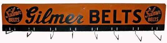 Colgador de correas. Publicidad de la Cía. Gilmer Belts. Estados Unidos, 1940.