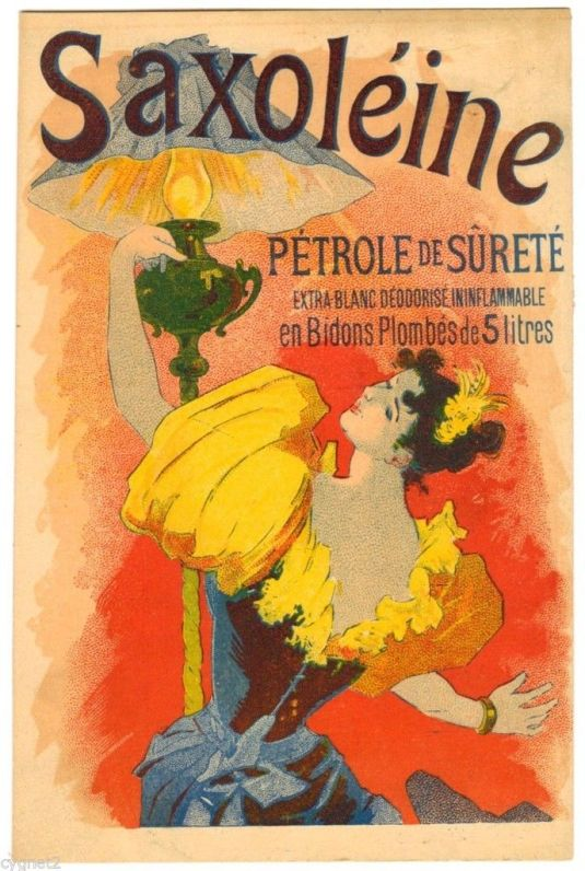 Aceite Saxoleine. Francia 1890.