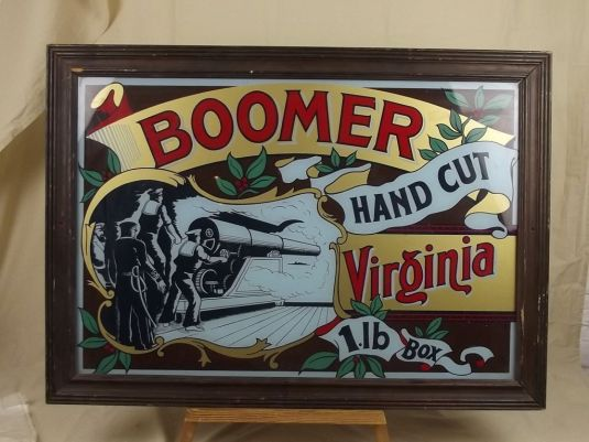 Cartel de vidrio. Tabaco Boomer. Inglaterra, 1930.