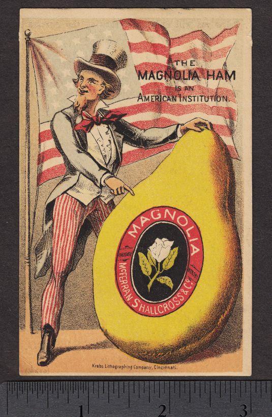 Jamón Magnolia, Estados Unidos 1870.