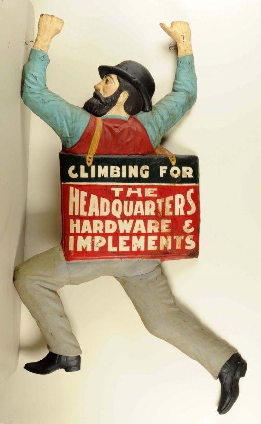 Publicidadde fierro. Estados Unidos, 1897.