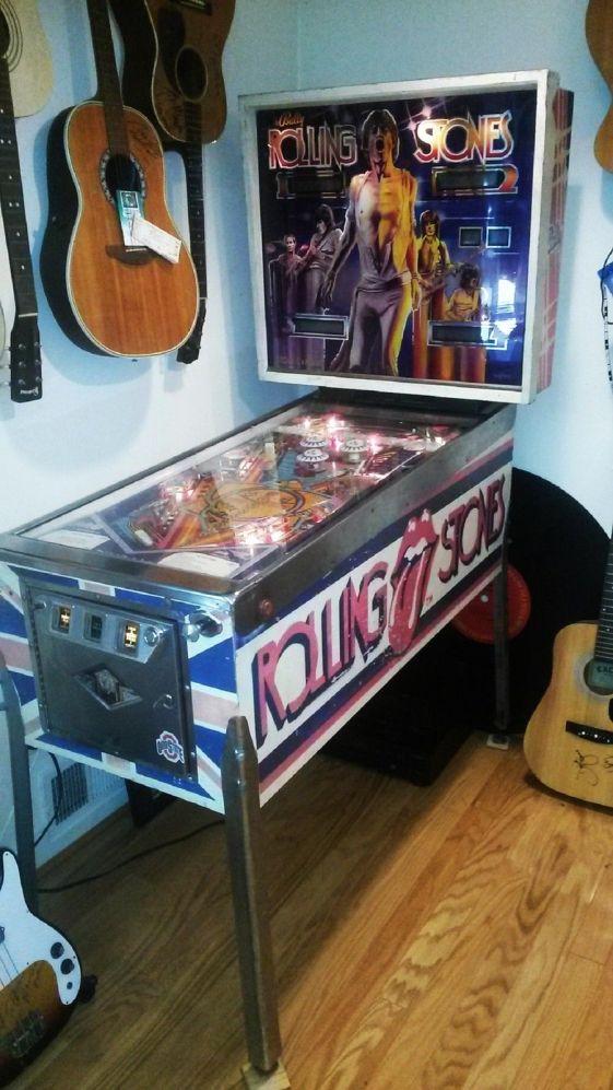 Máquina de pinball de 1980 de los Rolling Stones.