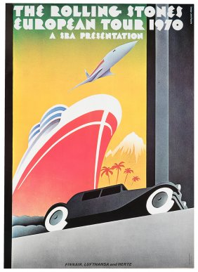 Carátula del afiche de la gira europea de los Rolling Stones de 1970.