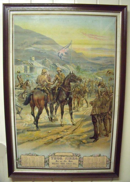 Calendario publicitario de 1901de la tienda JINKS WEDNESBURY WALSALL, Inglaterra.