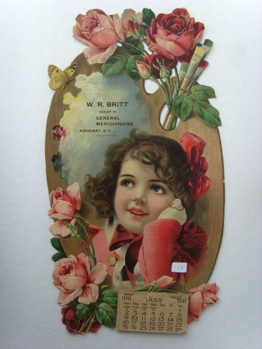 Calendario publicitario Ridgeway, N.Y. 1911.