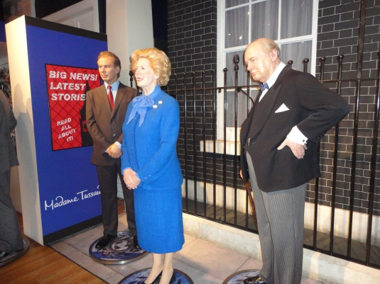 Tony Blair, Margaret Thatcher y Winston Churchill