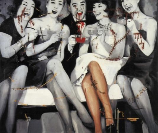 Party, 1963, por Gerhard Richter.