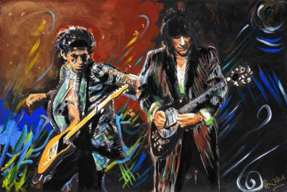 Rolling Stones por Ron Wood.