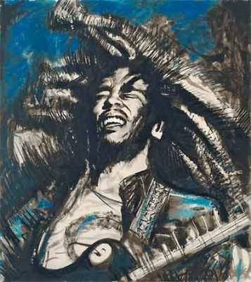 Bob Marley por Ron Wood.