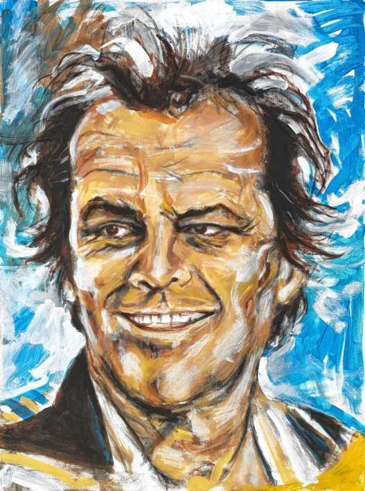 Jack Nicholson por Ron Wood.