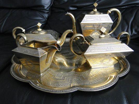 Juego de té ruso, 1870.