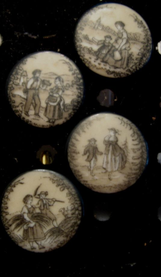 botones 1880 4 RARE EARLY FRENCH FARMING BUTTONS