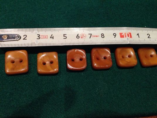 botones BUTTONS 6 PIECES 15TH CENTURY 100% GENUINE BALTIC AMBER EXCAVATED