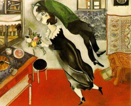 """El Cumpleaños"", óleo sobre lienzo (80,7 x 99,7 cms.),  por Marc Chagall, 1915."