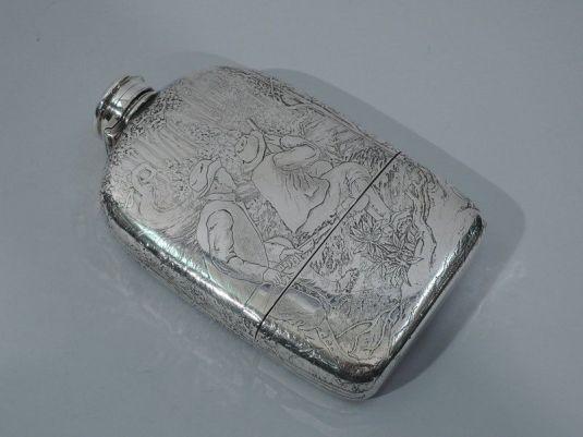caza botella de cacería tiffany plata esterlina 1897