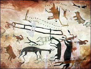 caza pintura rupestre la cueva del diablo Toquepala