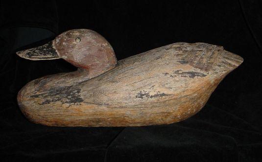caza senuelo pato 1880 USA