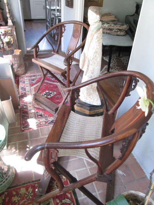 caza sillas plegadizas chinas estilo caza anteriores a 1800
