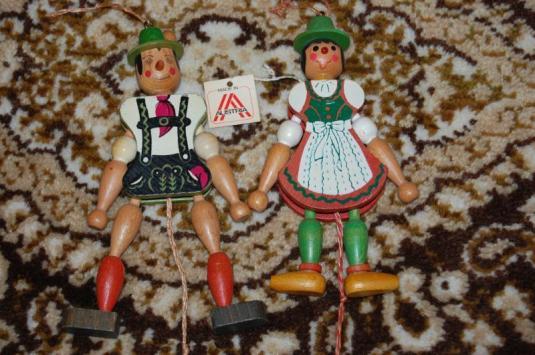 marioneta austria 1950 madera pintada a mano