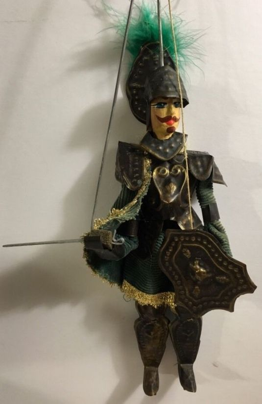 marioneta ciciliana 1850 madera metal y tela