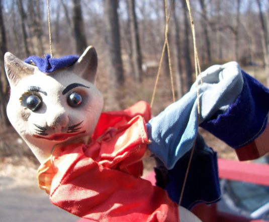 marioneta titere francesa 1970 cabeza porcelana pintada a mano
