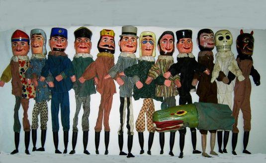 marionetas alemana cabeza madera tallada pintada a mano cuerpo tela