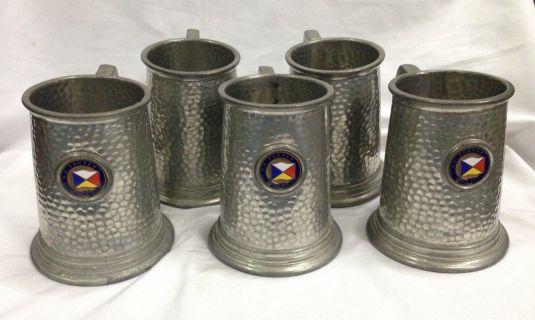 peltre jarros martillados ingleses fines siglo 19