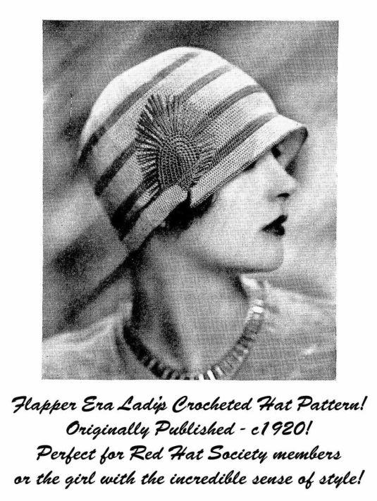 crochet sombrero 1920s revista norteamericana