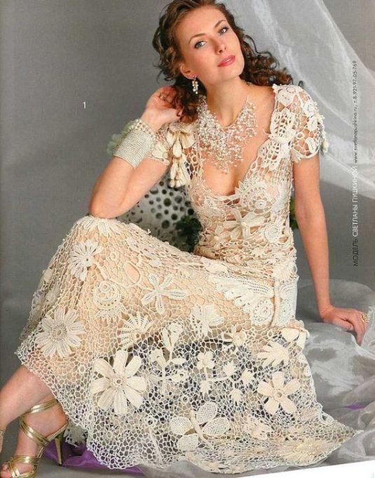 crochet vestido novia