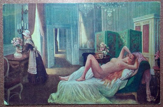 eros erotic french postcard 1909