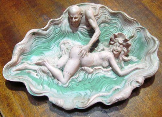 eros plato cerámica art nouveau