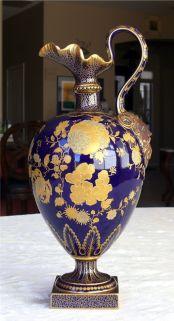 Jarrón cobalto del siglo XIX.