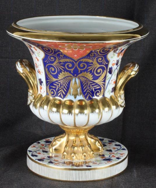 royal crown derby duesbury principios 1790 urna campana de porcelana