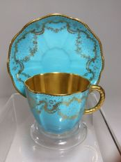 Taza y plato de 1850-1900.
