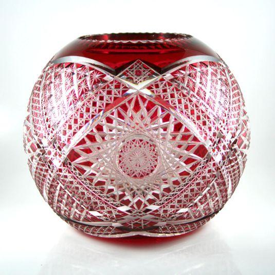 cristal baccarat clásico florero de cristal rubí francia 1850
