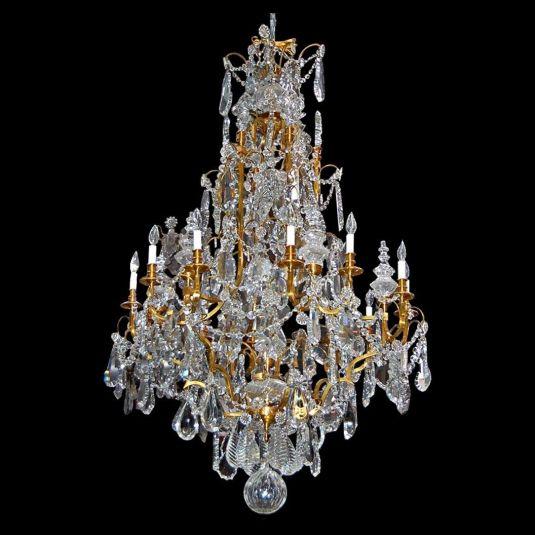cristal baccarat lámpara cristal y bronce francia 1880