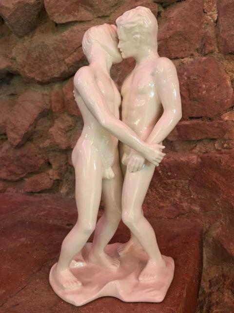gay GDR Wallendorf German Porcelain Figurine Gay alemania 1970