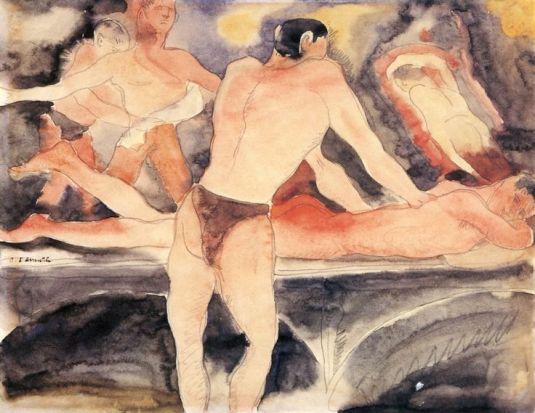 gay Turkish Bath by Charles Demuth  1915