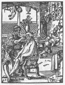 barbero en el siglo XVI foto wikipedia