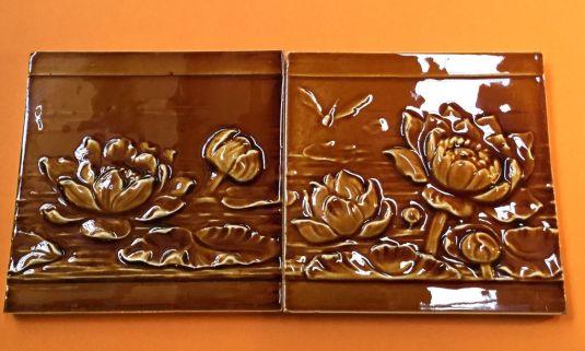 mayólica art nouveau fabricada por la compania Offstein Germany 1900