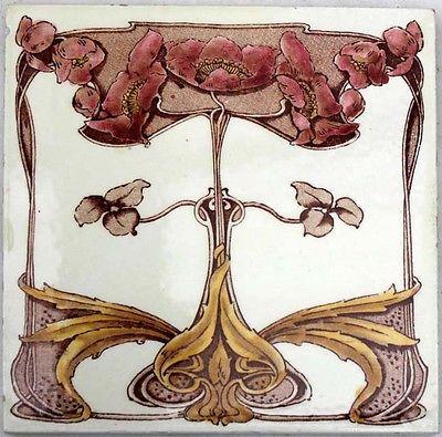 mayólica art nouveau fabricada por Marsden Inglaterra 1902