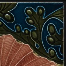 mayólica art nouveau fabricada por Wedgwood Inglaterra 1896 línea surfing