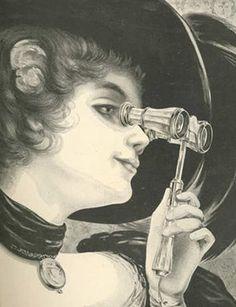 opera mujer con binoculares 1898
