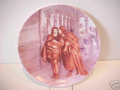 Plato de porcelana inglesa Copeland Spode escena de Shakespiere 1876