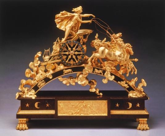 reloj de Buckingham Palace Apolo de Pierre-phillipe Thornire principios del siglo XIX