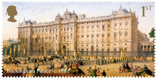 reloj de Buckingham Palace estampilla de 1862