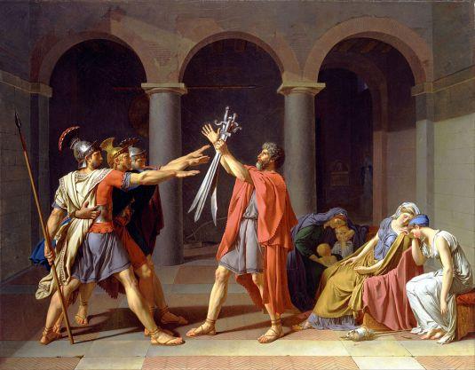 reloj de Buckingham Palace Oath of the Horatii pintura de Jacques-Louis David