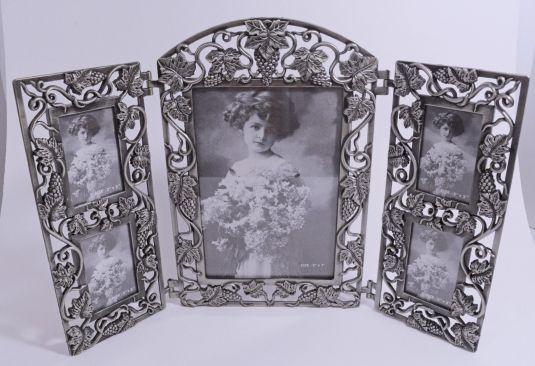 marco-triptico-de-peltre-con-hojas-y-frutos-de-uva-inglaterra-1900